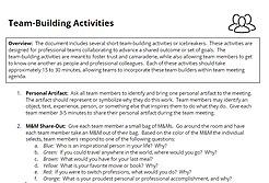 SAMPLE TEAM-BUILDING ACTIVITIES
